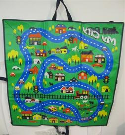 Kids Play Mat , Plastic 3' x 3' With Toy Cars