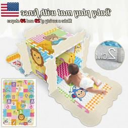 Kids Play Mat With Fence Baby Crawl Mat Puzzle Play Bubbles