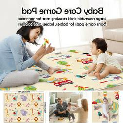 Kids Puzzle Folding Play Mat Non Toxic Foam Game Crawling Ma