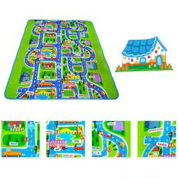Kids Rugs Car Play Crawling Activity Mat Road Floor Game Bed