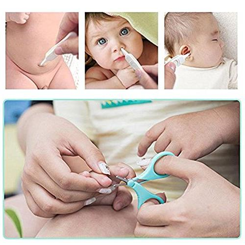 Alotm 4 1 Safety Healthcare and Clippers Set Includes Nail Clipper, Safety File for Newborn, Toddler