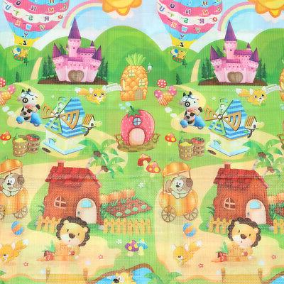 2Mx1.8M Floor Play Rug Infant Kids Game Mat Two
