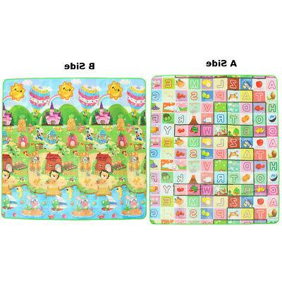 2Mx1.8M Rug Infant Baby Kids Game Mat Two