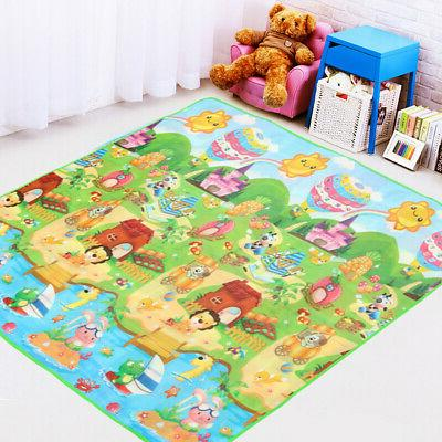 2Mx1.8M Play Rug Child Infant Kids Crawling Two Sides
