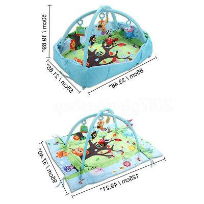 3 In 1 Baby Activity Gym Game Mat Playspot Foam