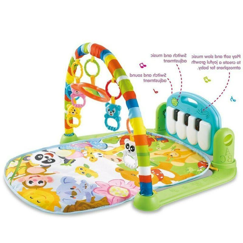 3 in 1 Baby Light Musical Gym Play Mat Lay & Play Fitness Fu