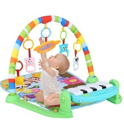 Baby Gym Play Mat Lay & Play 3 in 1 Fitness Music And Lights