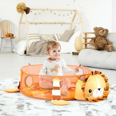 3 in 1 Lion Baby Gym w Hanging Ocean Ball