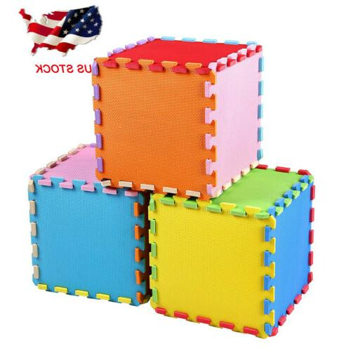 Kid/'s Puzzle Exercise Play Mat with EVA Foam Interlocking Tiles Educational Toy