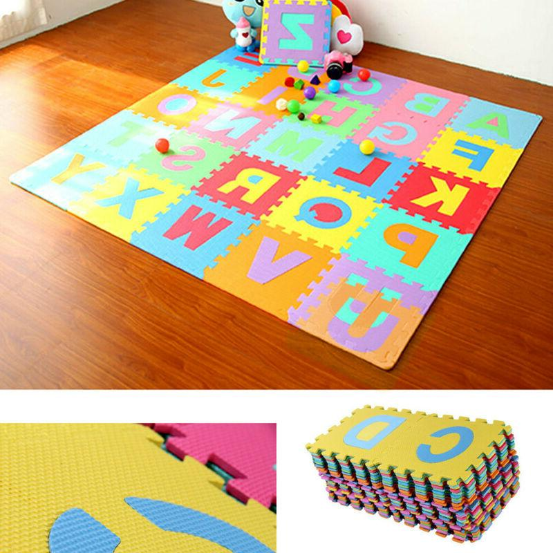 36pcs alphabet numbers eva floor play mat