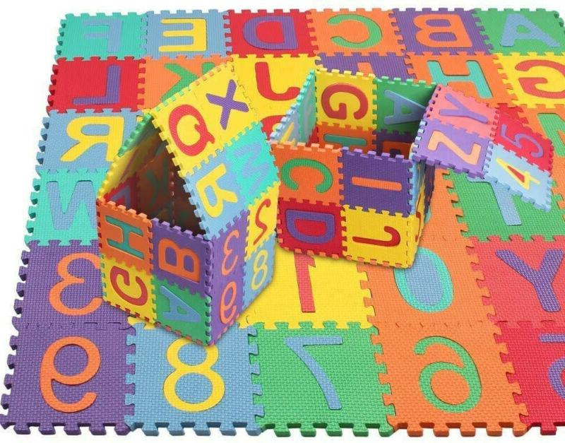 36pcs Numbers Floor Play Mat Baby Home Room ABC