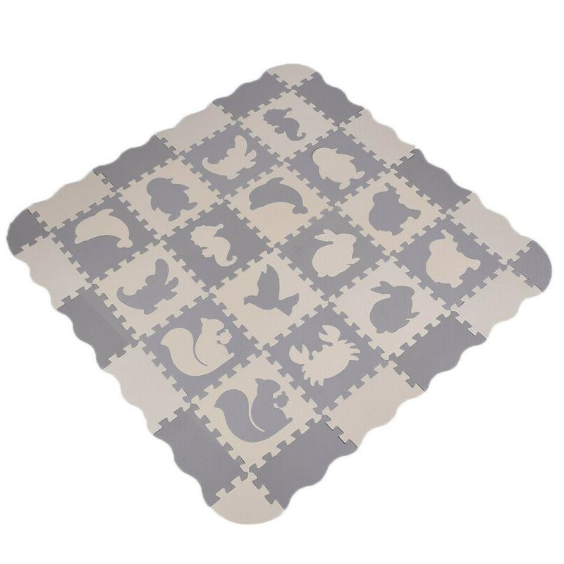 EVA Baby with Fence Floor Tiles Crawling Mat US