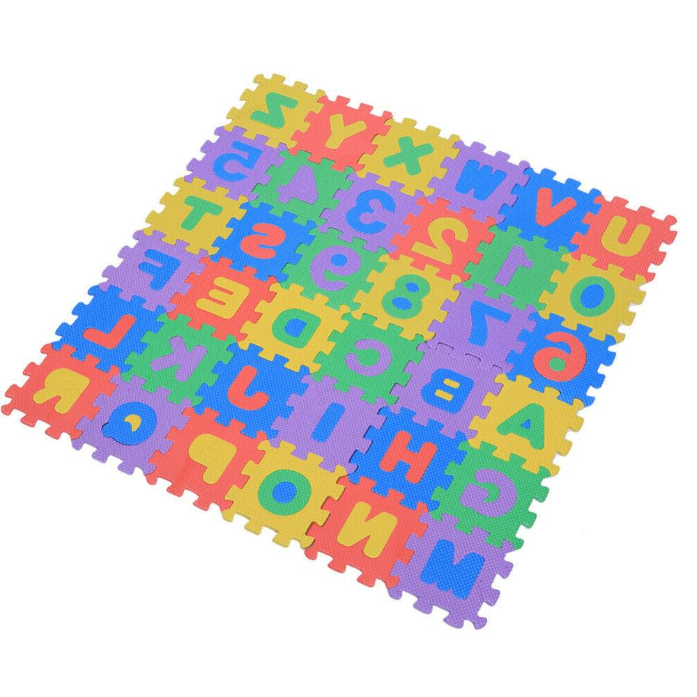 36Pcs Numbers Letters Baby Children Kids Pad Toys