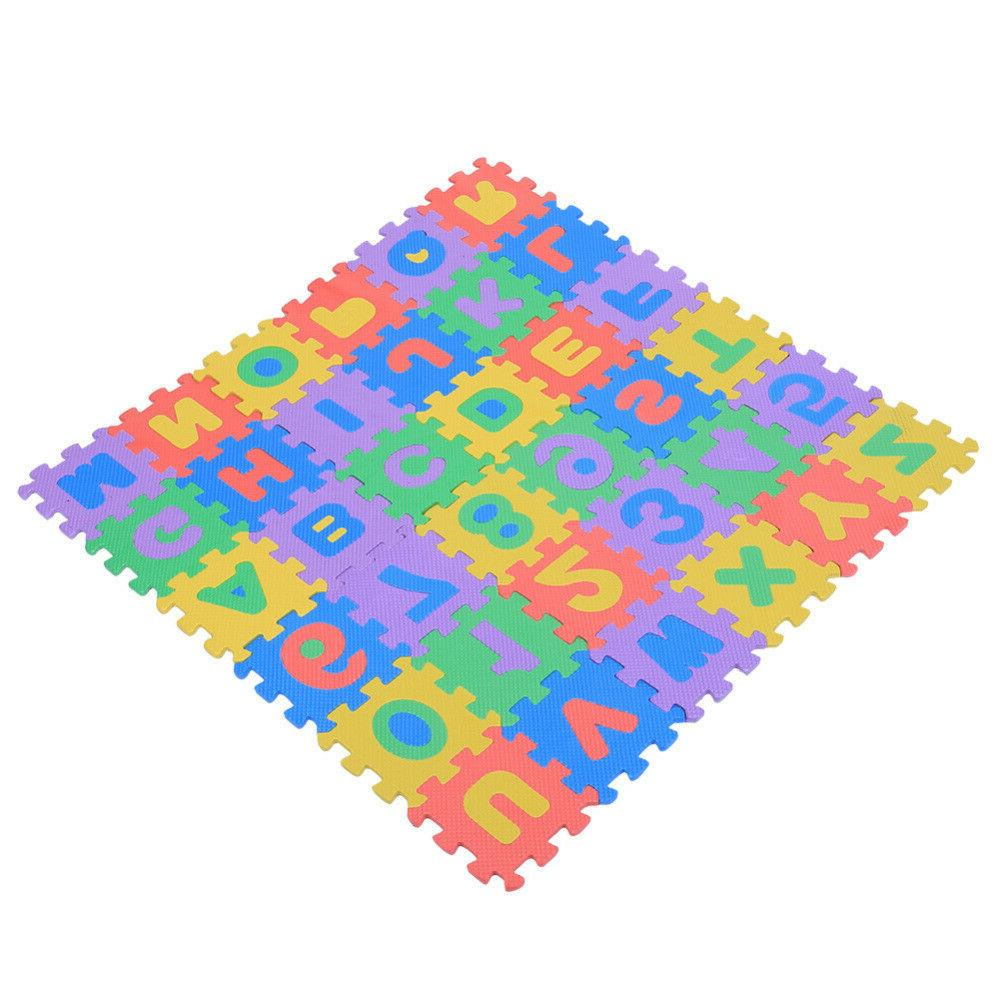 36Pcs EVA Play Numbers Letters Baby Children Kids Playing Crawling Pad Toys