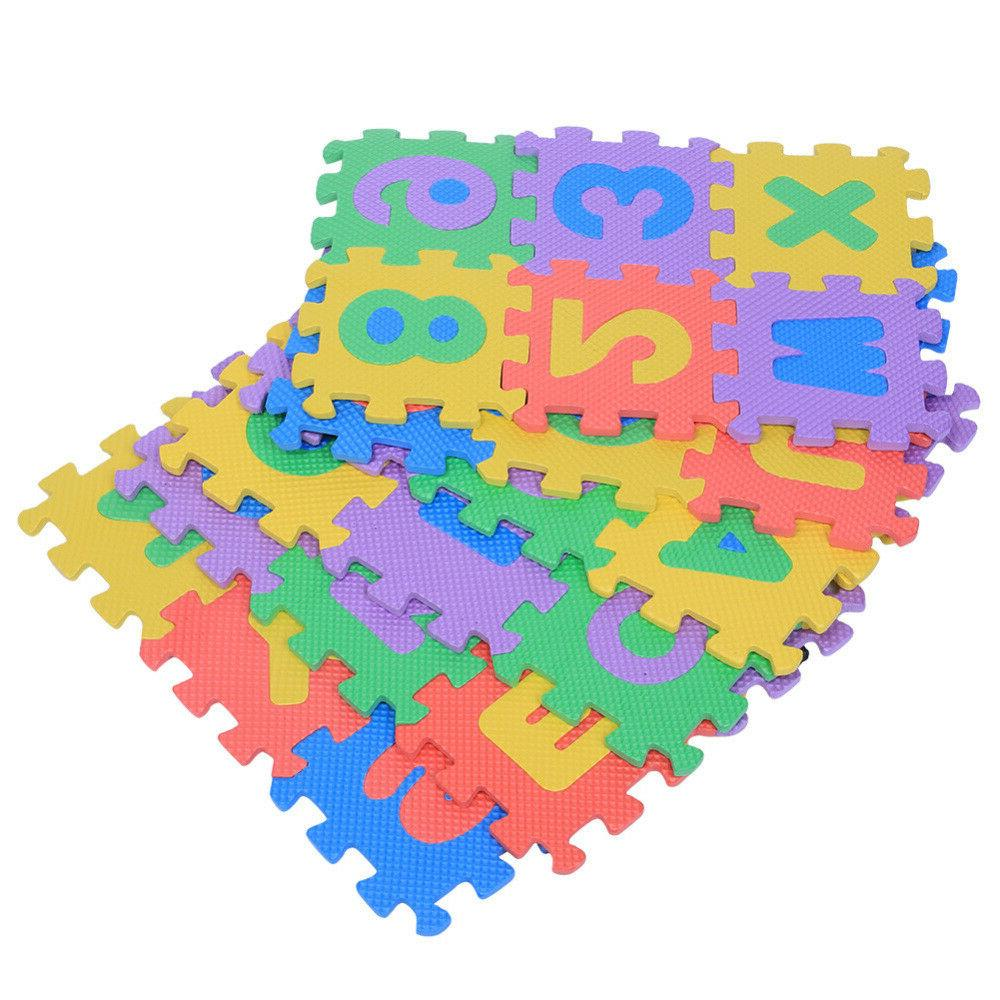 36pcs eva play mat numbers letters baby
