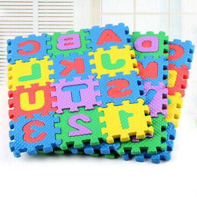 36pcs Play Foam Soft Letters and Numbers Colourful