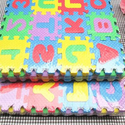 36pcs Kids Mat Foam Letters and Numbers Colourful