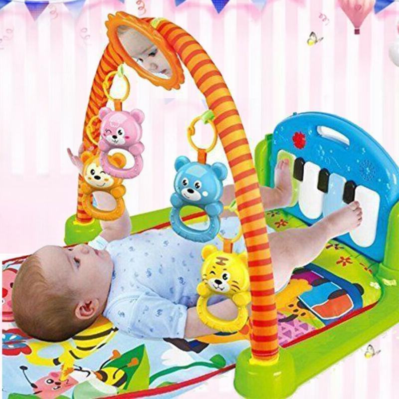 3-in-1 Baby Gym Floor Play Mat Musical Activity Center Kick And Play Piano Toy