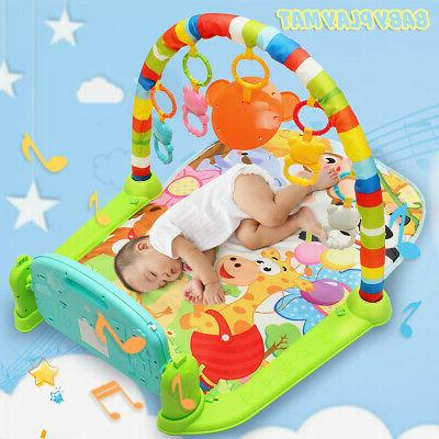 4-In-1 Infant Baby Kid Playmat Piano Activity Soft Mat