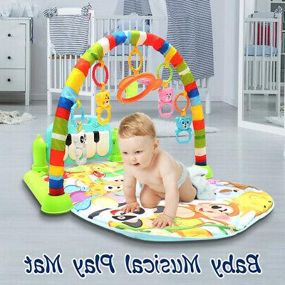 4-In-1 Infant Playmat Musical Piano Activity Soft Fitness Mat