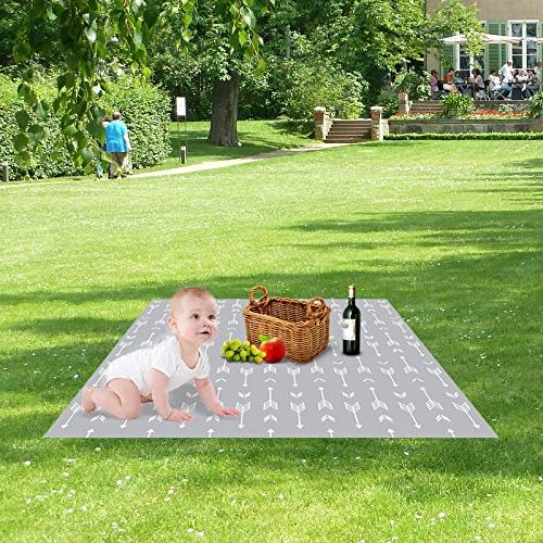 """51"""" Under Baby Spill Water-resistant Anti-slip Floor Mat, and"""