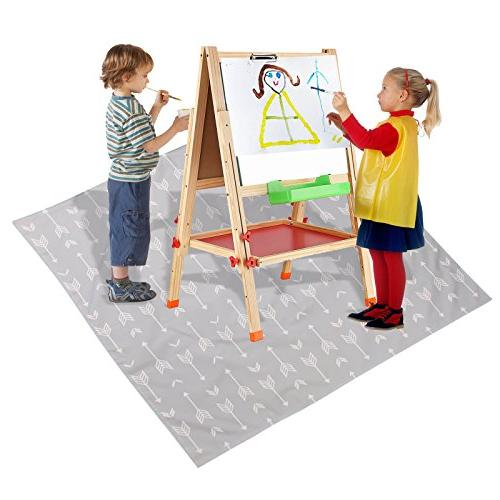 """51"""" Mat Under High Baby Spill Water-resistant Anti-slip Mat, Play and Table Cloth"""