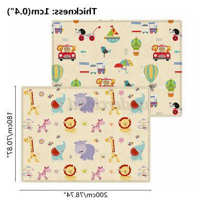 71''x39'' Double-Sided Crawling Playmat