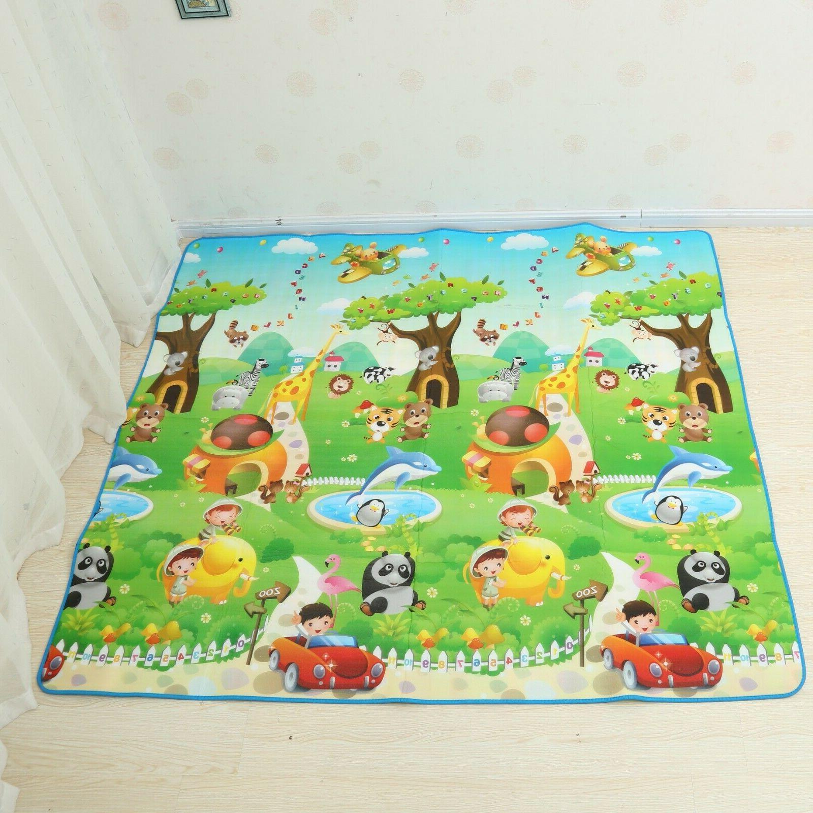 79×71 Inches Extra Baby Crawling Mat Non Toxic Game