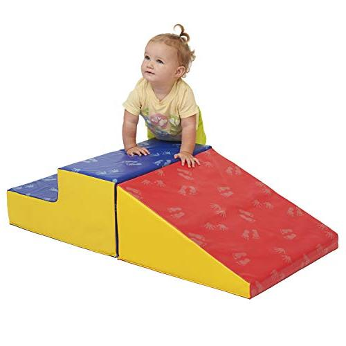 ECR4Kids SoftZone Little Me Play Climb and Slide, Primary