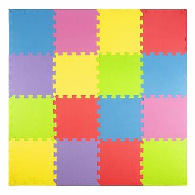 Foam Play Mats  Safe Kids Puzzle Playmat | Non-Toxic Interlo