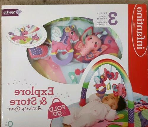 Infantino Sparkle Explore and Store Activity Gym Unicorn
