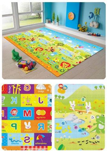 Foam Gym Non-Toxic, Non-Slip, Reversible, Waterproof, Great Children, and