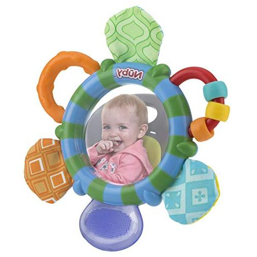 Nuby Mirror Teether Toy, Colors Vary