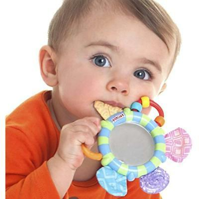 Nuby Look-At-Me Mirror Teether Toy, Colors May Vary