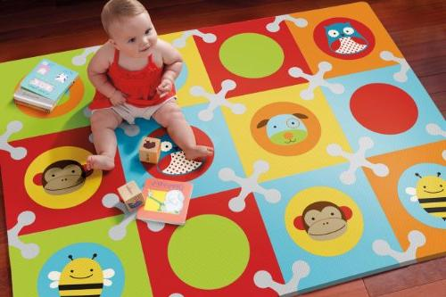 Skip Hop and Toddler Zoo Playmat with Floor Tiles, Multi