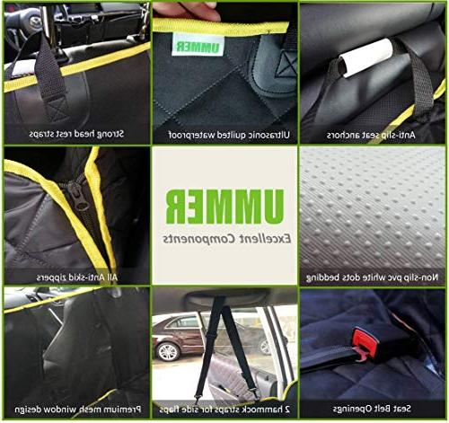 UMMER Dog Seat Cover Protector Mesh Side Flaps Truck Nonslip Washable Car Seat Cover Pad Car Rear