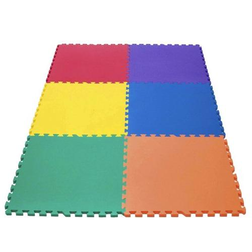 Wonder Mat 6 Piece Non-Toxic Non-Recycled Extra Thick Rainbo