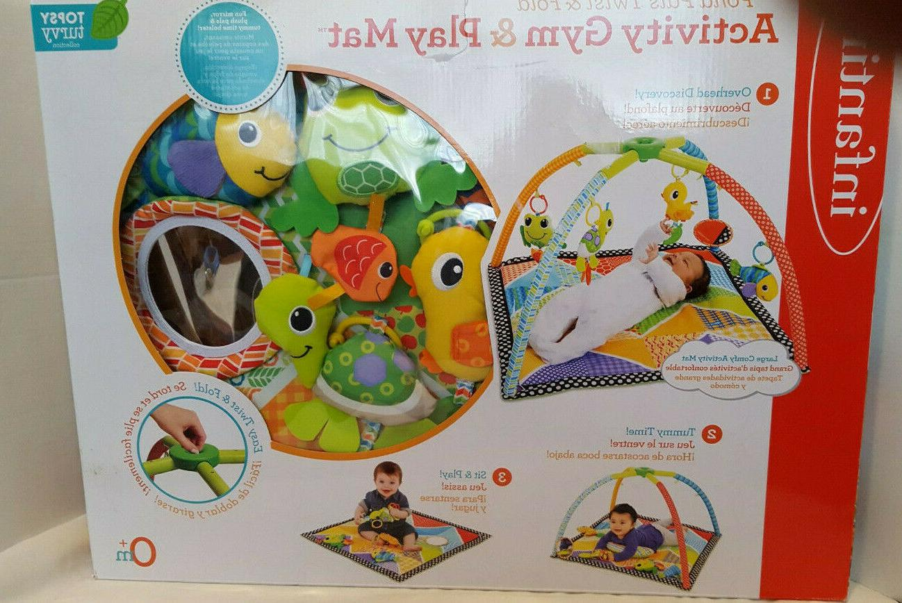 activity gym and play mat pond pals