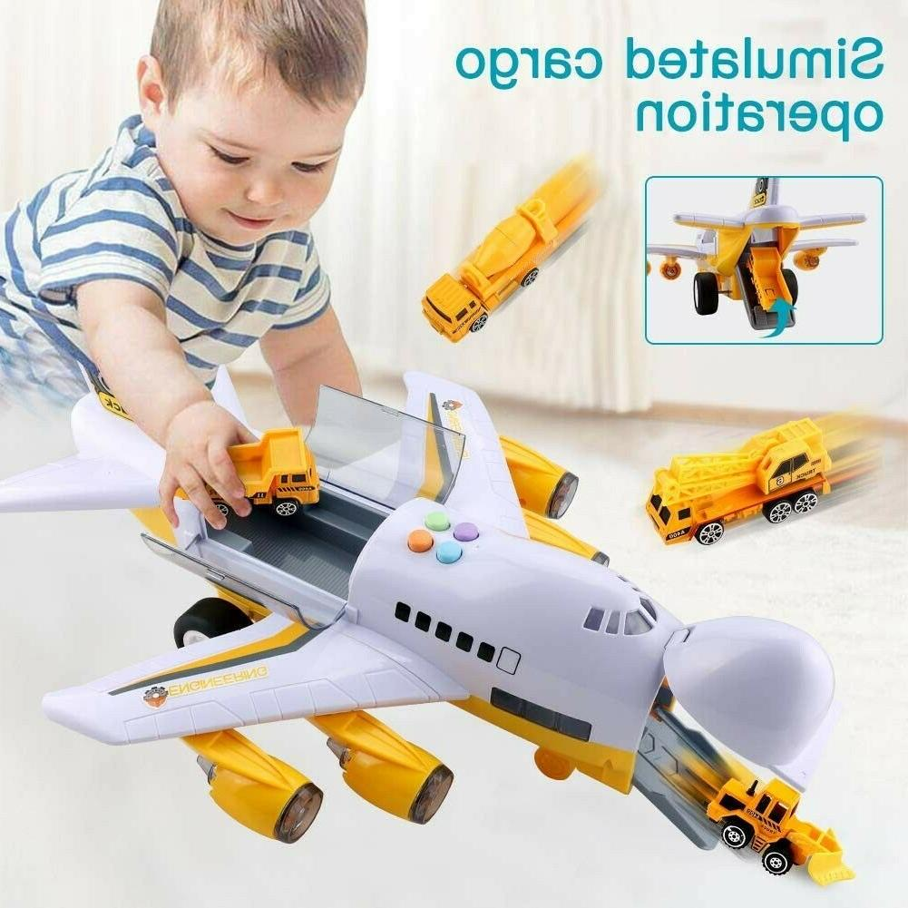 Airplane Metal Mat Vehicle Toy Car Cargo for