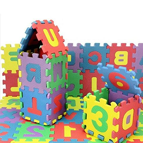 Alphabet and 36 Piece Multi-Color Play