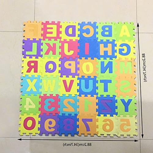 Alphabet and Puzzle 36 Multi-Color Play & Exercise