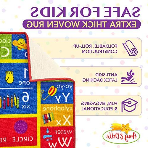 Alphabet and Play Educational and Fun Kid's - Bedroom, Shapes Colorful Shape Designs Amy & Delle