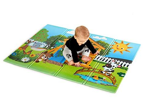 """Baby Large 35"""" Foldable Play Mat, and Up"""