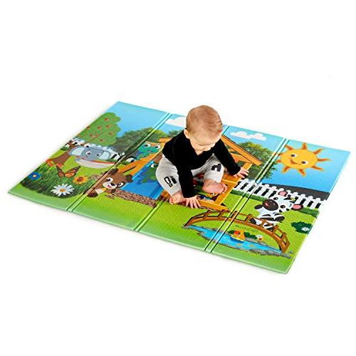 """Baby Einstein Anytime Playground Large 47"""" x 35"""" Foldable Mat, and"""