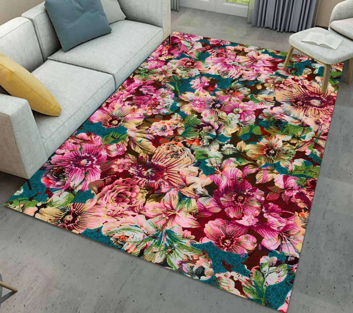 Area Rugs Carpet Nursery Floor Rug Lily