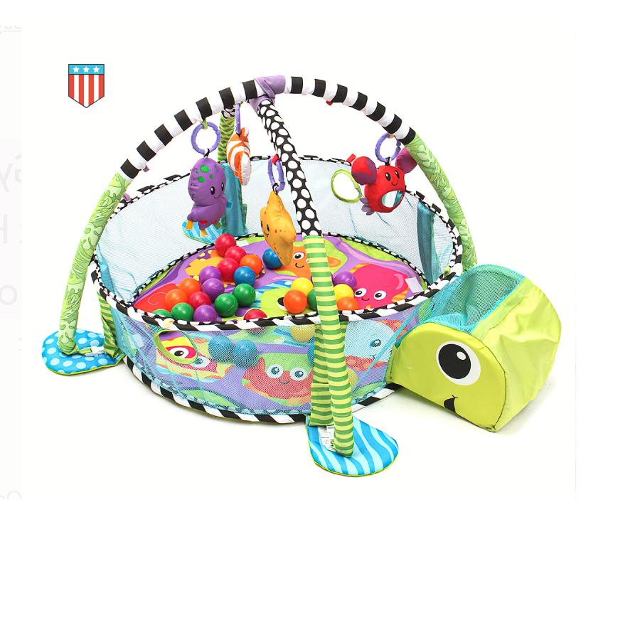 baby activity gym game center turtle play