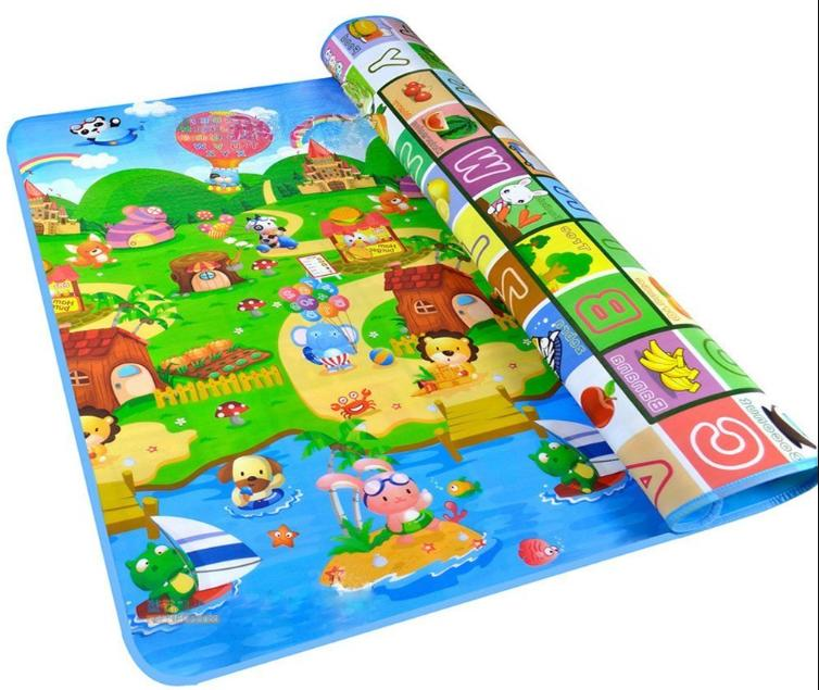 Baby Care Play Non-Slip Waterproof Double Side Game Colored