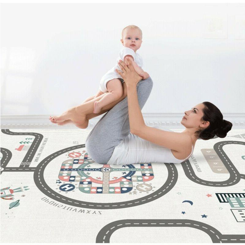 Baby Crawling Care Play Mat-Large Double Waterproof Portable