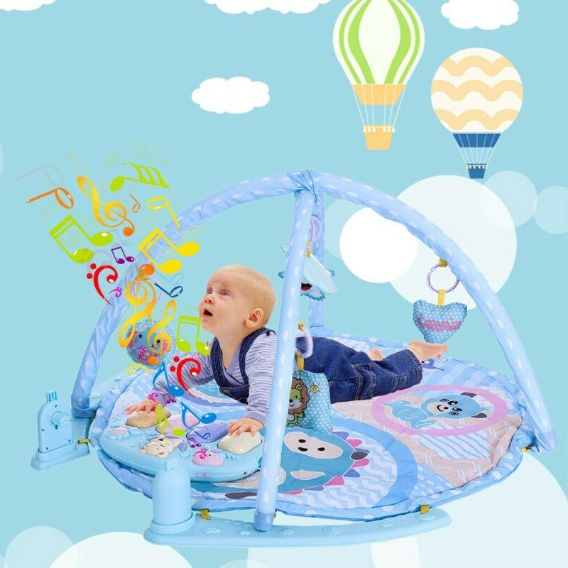5 in 1 Baby Light Musical Gym Play Mat Kick Play Fitness Fun