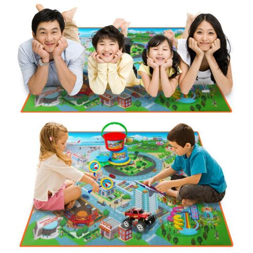 Infant Baby Kids Crawl Playing Fun Car City Traffic Game Pla